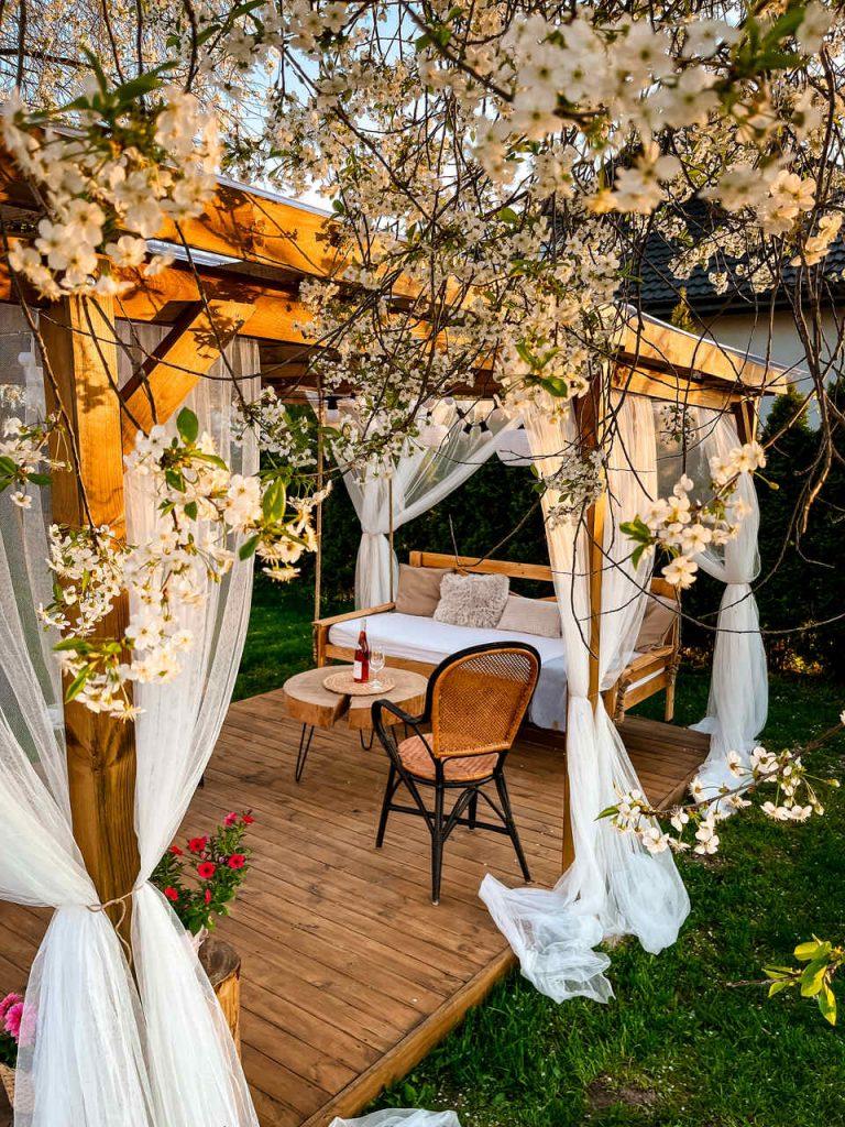 altana ogrodowa - aranżacja