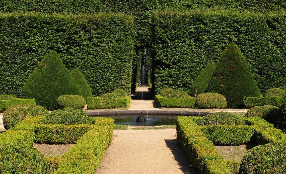 ogród w stylu francuskim